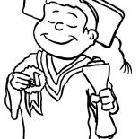 Graduation, Best Student On Graduation Day Coloring Pages: Best Student on Graduation Day Coloring Pages