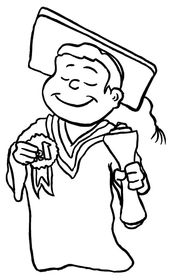 Graduation, : Best Student on Graduation Day Coloring Pages