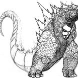 Godzilla, Big Fat Godzilla Coloring Pages: Big Fat Godzilla Coloring Pages