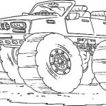 Monster Jam, Bigfoot Goes Speeding Monster Jam Coloring Pages: Bigfoot Goes Speeding Monster Jam Coloring Pages
