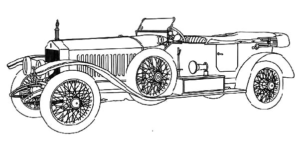 Model t Car, : Brand New Model T Car Coloring Pages