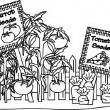 Garden, Carrot And Tomato Garden Coloring Pages: Carrot and Tomato Garden Coloring Pages