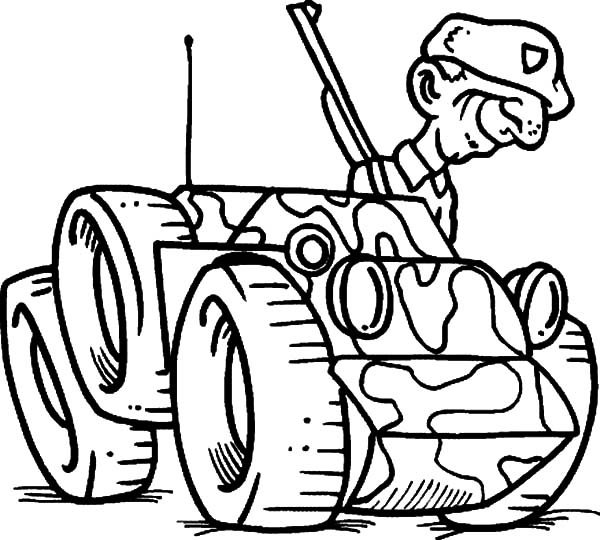 Military, Cartoon Military Soldier Smile Coloring Pages: Cartoon Military Soldier Smile Coloring Pages