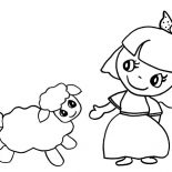 Mary Had a Little Lamb, Cartoon Of Mary Had A Little Lamb Coloring Pages: Cartoon of Mary Had a Little Lamb Coloring Pages