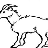 Mountain Goat, Cautious Mountain Goat Coloring Pages: Cautious Mountain Goat Coloring Pages