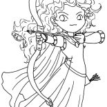 Merida, Chibi Brave Princess Merida Coloring Pages: Chibi Brave Princess Merida Coloring Pages