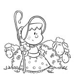 Mary Had a Little Lamb, Chibi Picture Of Mary Had A Little Lamb Coloring Pages: Chibi Picture of Mary Had a Little Lamb Coloring Pages