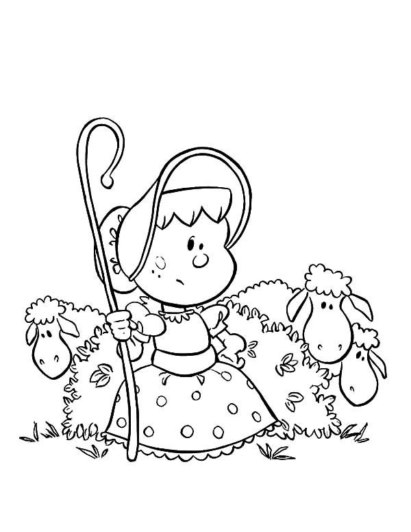 Mary Had a Little Lamb, : Chibi Picture of Mary Had a Little Lamb Coloring Pages