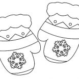 Mittens, Christmas Gift Mittens Coloring Pages: Christmas Gift Mittens Coloring Pages