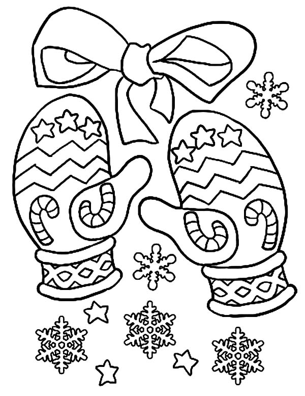 Mittens, : Christmas Mittens Coloring Pages