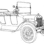 Model t Car, Classic Ford Model T Car Coloring Pages: Classic Ford Model T Car Coloring Pages