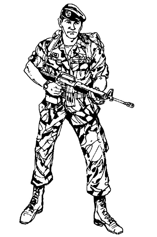 Military, Cool Military Soldier Coloring Pages: Cool Military Soldier Coloring Pages