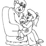 Grandfather, Cupcake For My Grandfather Coloring Pages: Cupcake for My Grandfather Coloring Pages