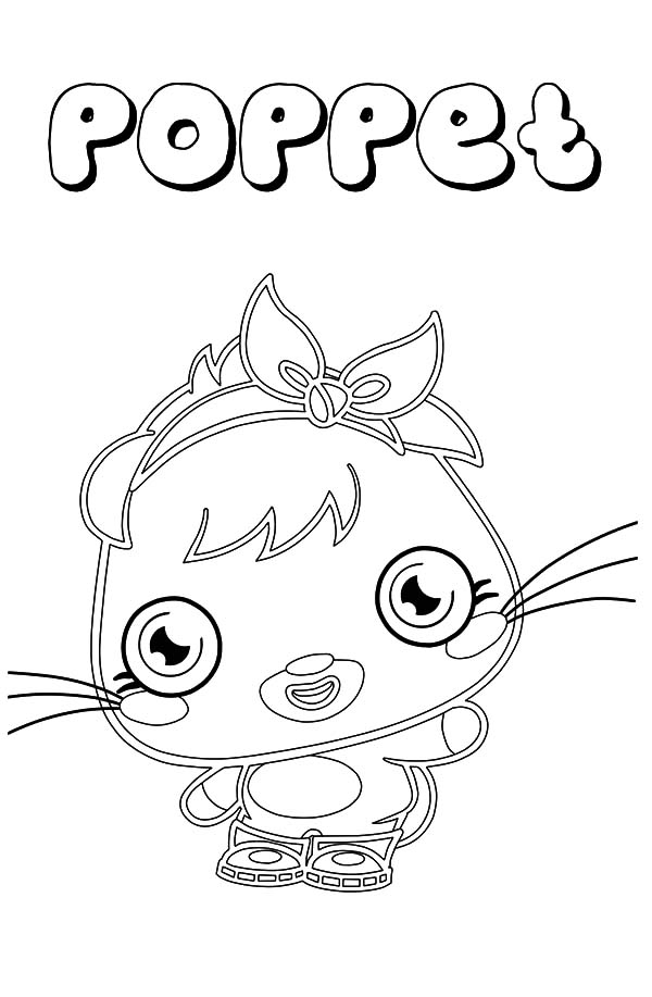 Moshi, : Cute Poppet Moshi Monster Coloring Pages