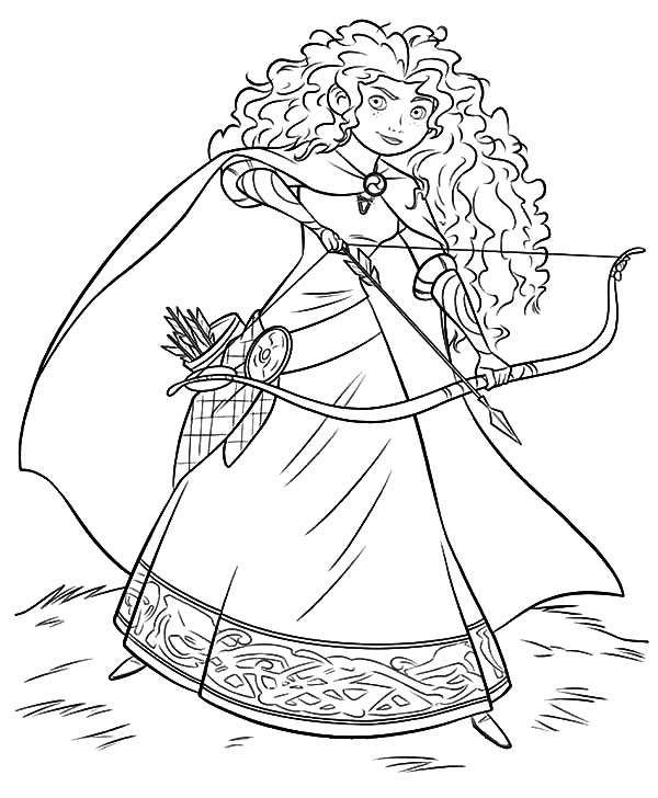 Merida, : Disney Beautiful Princess Merida Coloring Pages