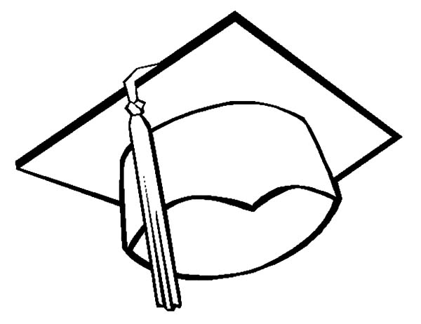 Graduation, : Drawing Graduation Cap Coloring Pages