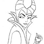 Maleficent, Drawing Maleficent Coloring Pages: Drawing Maleficent Coloring Pages