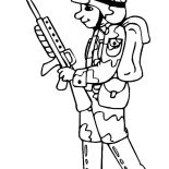 Military, Drawing Military Soldier Coloring Pages: Drawing Military Soldier Coloring Pages