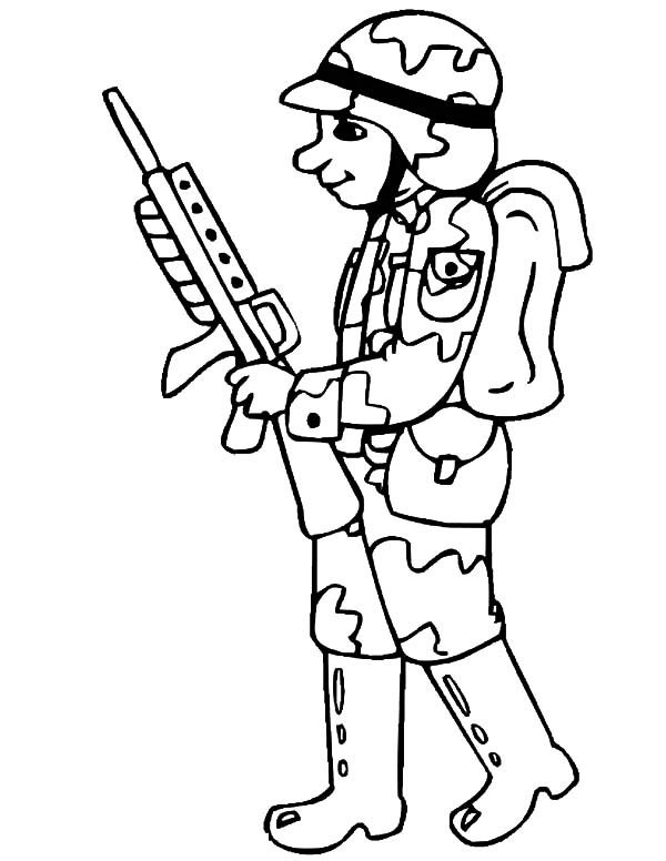 drawing military soldier coloring pages color luna