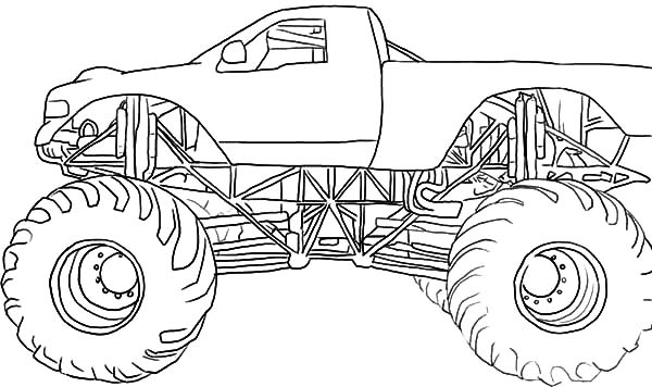 Monster Jam, : Drawing Monster Jam Truck Coloring Pages