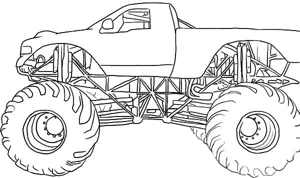 Monster Jam, Drawing Monster Jam Truck Coloring Pages: Drawing Monster Jam Truck Coloring Pages