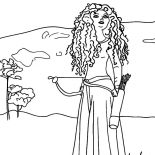 Merida, Drawing Princess Merida Coloring Pages: Drawing Princess Merida Coloring Pages