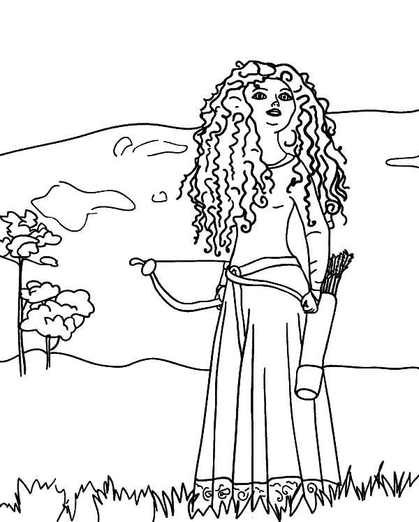 Merida, : Drawing Princess Merida Coloring Pages