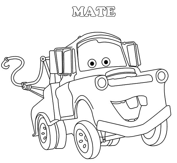 Mater, : Drawing Tow Mater Coloring Pages