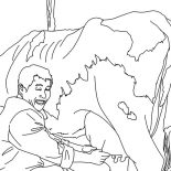 Milking Cow, Farmer Milking Cow Job Coloring Pages: Farmer Milking Cow Job Coloring Pages