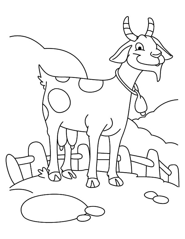 Goat, : Farming Goat Coloring Pages