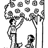 Garden, Father Bring Me To Garden Coloring Pages: Father Bring Me to Garden Coloring Pages