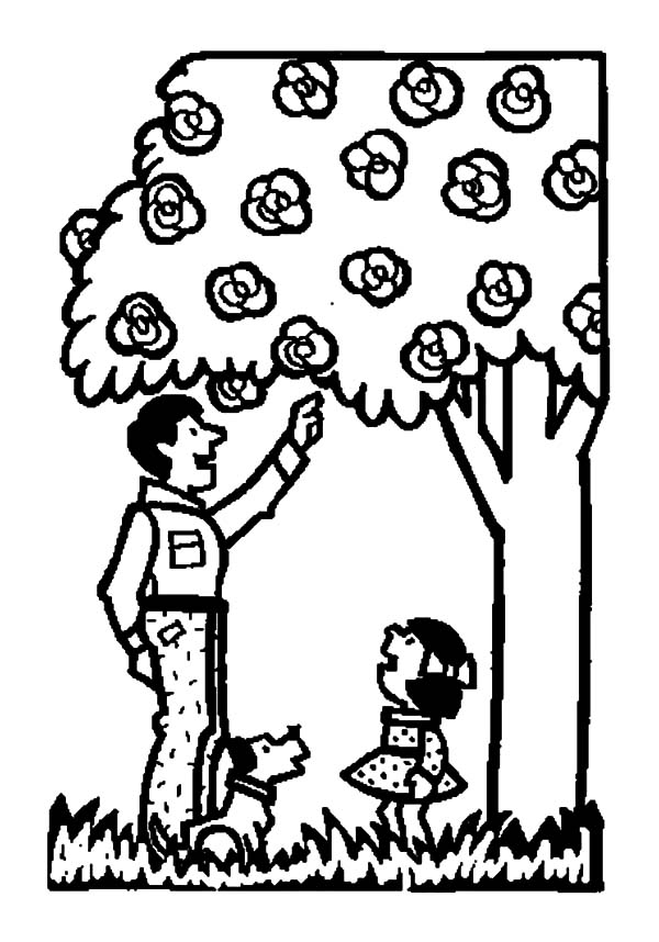 Garden, : Father Bring Me to Garden Coloring Pages