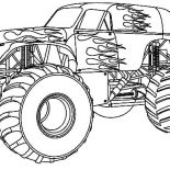 Monster Jam, Fire Monster Truck At Monster Jam Coloring Pages: Fire Monster Truck at Monster Jam Coloring Pages
