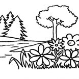 Garden, Flower Garden Coloring Pages: Flower Garden Coloring Pages