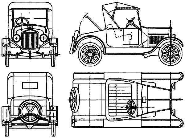 Model t Car, : Ford Model T Car Concept Coloring Pages