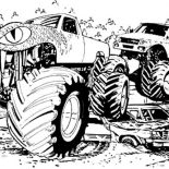 Monster Jam, Freestyler Monster Jam Competition Coloring Pages: Freestyler Monster Jam Competition Coloring Pages