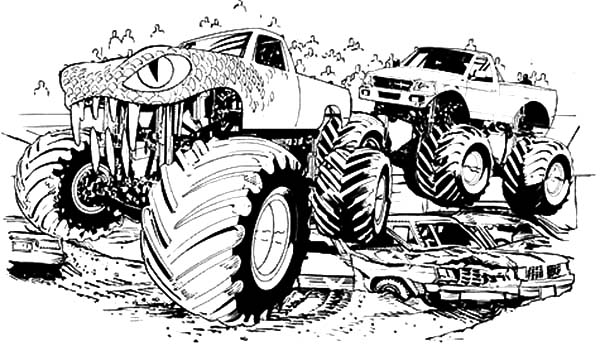 Monster Jam, : Freestyler Monster Jam Competition Coloring Pages