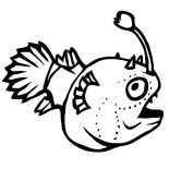 Monster Fish, Funny Monster Fish Coloring Pages: Funny Monster Fish Coloring Pages