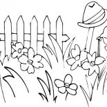 Garden, Garden Full Of Tall Grass Coloring Pages: Garden Full of Tall Grass Coloring Pages