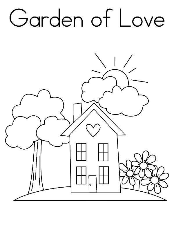 Garden, : Garden of Love Coloring Pages
