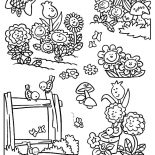 Garden, Garden Of Singing Flower Coloring Pages: Garden of Singing Flower Coloring Pages