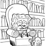 Gary, Gary The Snail Looking At Sad Spongebob Coloring Pages: Gary the Snail Looking at Sad Spongebob Coloring Pages