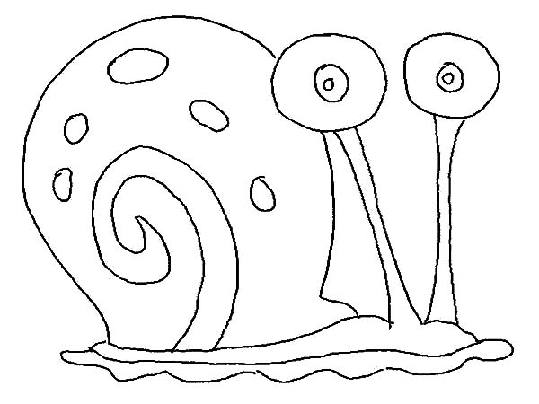 Gary, : Gary the Snail Outline Coloring Pages
