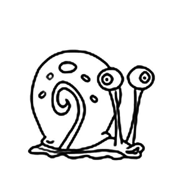 Gary, : Gary the Snail is Hungry Coloring Pages