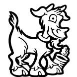 Goat, Goat And Empty Can Coloring Pages: Goat and Empty Can Coloring Pages
