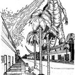 Godzilla, Godzilla Burn Building With Fire Breath Coloring Pages: Godzilla Burn Building with Fire Breath Coloring Pages