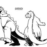 Godzilla, Godzilla Found His Mate Coloring Pages: Godzilla Found His Mate Coloring Pages