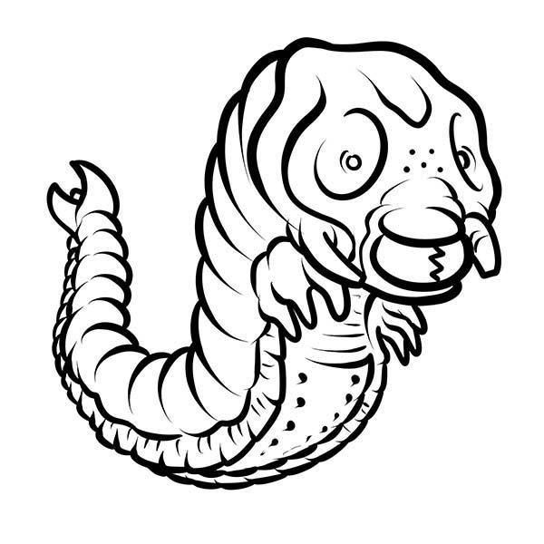 Godzilla, : Godzilla Larvae Coloring Pages