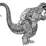 Godzilla, Godzilla Running Wild Coloring Pages: Godzilla Running Wild Coloring Pages