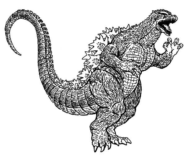 Godzilla, : Godzilla Running Wild Coloring Pages